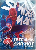 """Нотная тетрадь """"Spider-Man"""", формат А4, твердая обложка, 20 листов"""