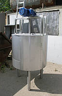 Емкость нержавеющая, объем 260 л, с рубашкой, термоизоляцией, электрическим нагревом и мешалкой рамного типа, фото 1