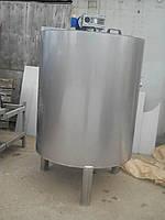 Емкость нержавеющая, объем 1,15 куб.м.,  с мешалкой лопастного типа, фото 1