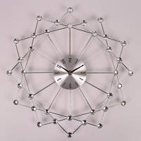 Часы металлические с стразами , диаметр 38 см.
