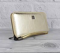 Кошелек женский кожаный на молнии Givenchy 6288 золотистый, фото 1
