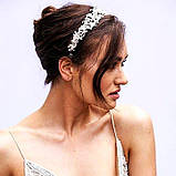 Tiffany - Ніжний віночок діадема срібного кольору (4,5см), фото 4