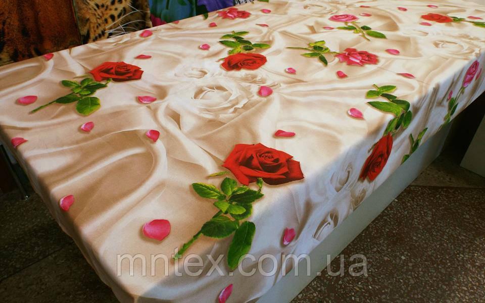 Ткань для пошива постельного белья бязь премиум Романтика беж