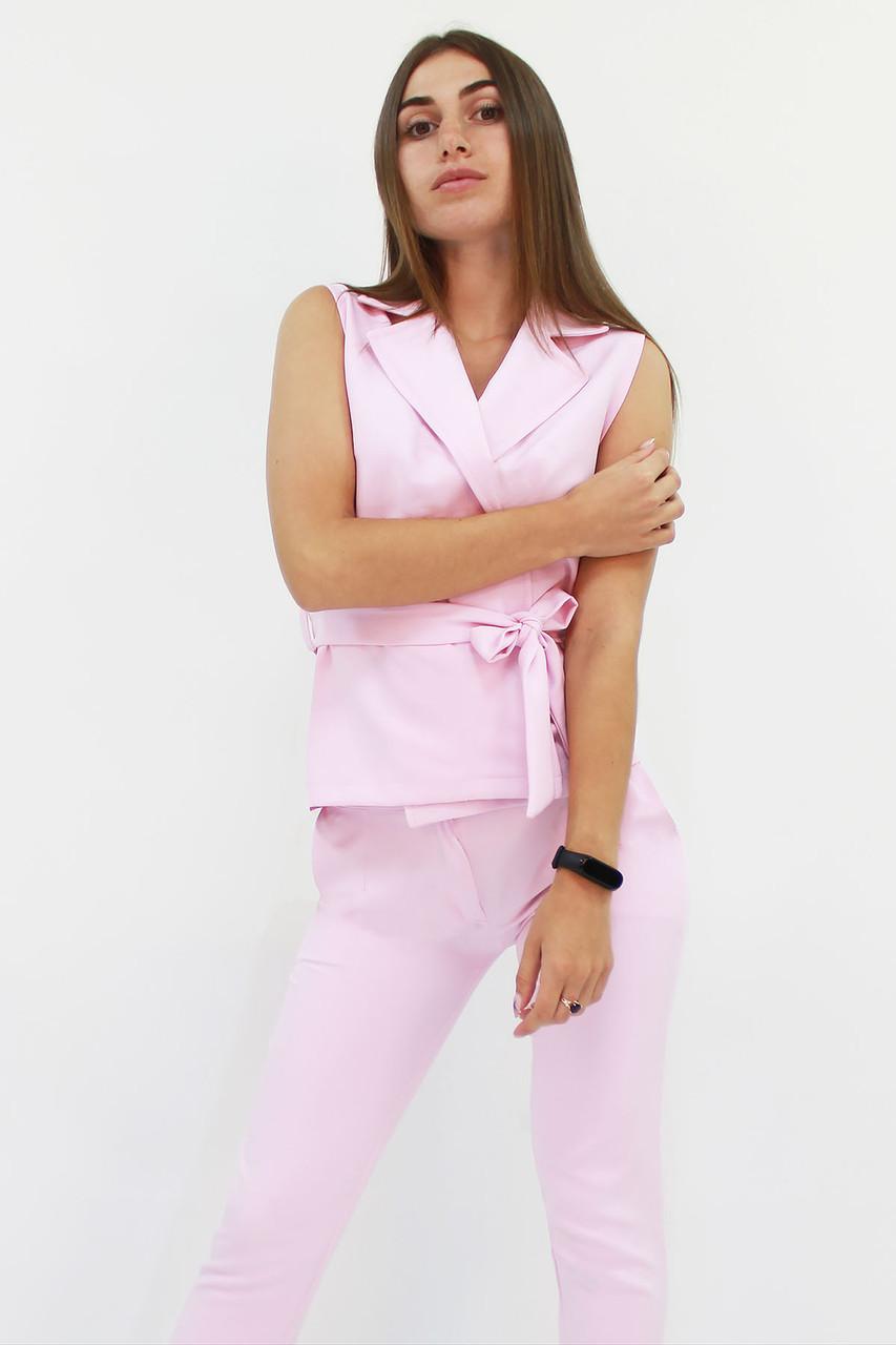 S, M, L, XL / Стильний брючний костюм Archer, рожевий