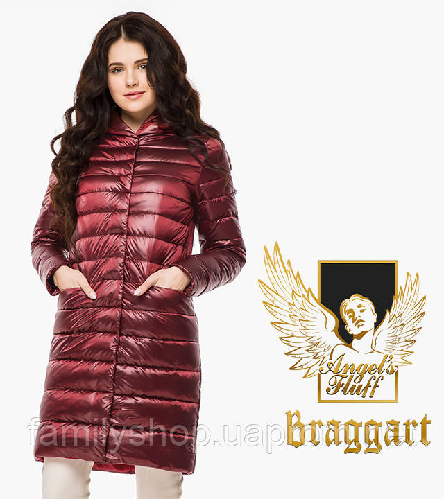 Braggart Angel's Fluff 18225 | Женский осенне-весенний воздуховик карминовый