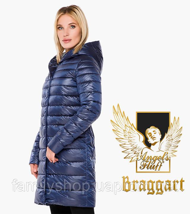 Braggart Angel's Fluff 18225 | Воздуховик осень-весна женский длинный сапфировый
