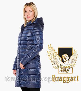 Braggart Angel's Fluff 18225 | Воздуховик осень-весна женский длинный сапфировый, фото 2
