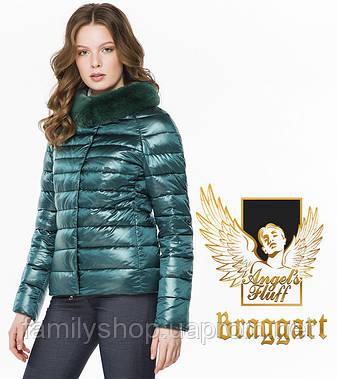 Braggart Angel's Fluff 40267 | Воздуховик осенне-весенний для женщин изумрудный, фото 2