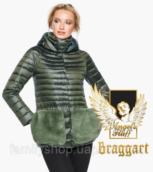 Braggart Angel's Fluff 15115   Воздуховик женский осенне-весенний темный хаки