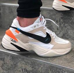 "Мужские кроссовки Nike M2K Tekno ""Off White"" White Beige 40-45рр. Живое фото. Топ реплика ААА+"