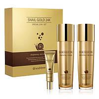 SeaNtree набор средств премиум-класса с муцином слизи улитки и коллоидным золотом Snail Gold 24K Special 2in 1