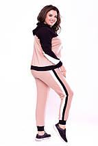 """Женский трикотажный спортивный костюм """"Sabina"""" с карманами и капюшоном (большие размеры), фото 3"""