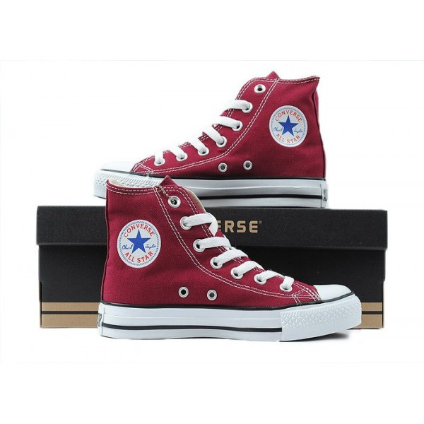 Converse All Star кеды бордовые