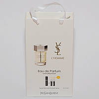 L`Homme Yves Saint Laurent мини парфюмерия в подарочной упаковке 3х15ml DIZ