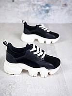 Замшевые молодёжные кроссовки 36-40 р чёрный, фото 1