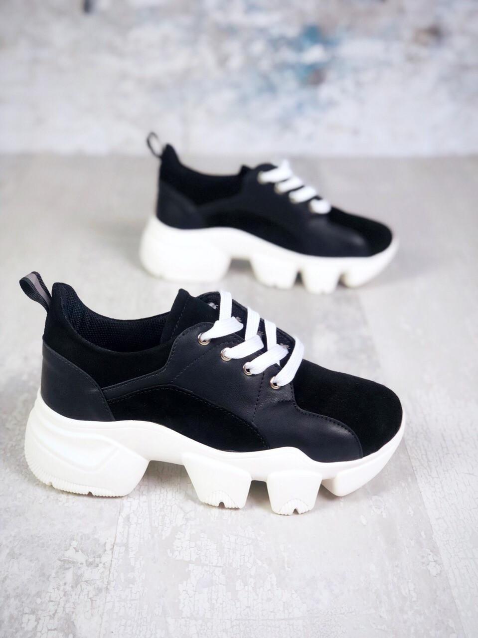 Замшевые молодёжные кроссовки 36-40 р чёрный