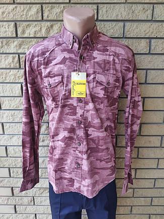 Рубашка мужская плотная коттоновая брендовая высокого качества ONLINE, Турция, фото 2