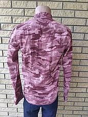 Рубашка мужская плотная коттоновая брендовая высокого качества ONLINE, Турция, фото 3