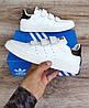 Мужские кроссовки Adidas Stan Smith На Липучке. Натуральная кожа, фото 2