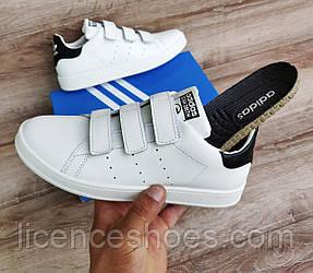 Чоловічі кросівки Adidas Stan Smith На Липучці. Натуральна шкіра