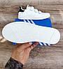 Мужские кроссовки Adidas Stan Smith На Липучке. Натуральная кожа, фото 4