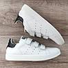 Мужские кроссовки Adidas Stan Smith На Липучке. Натуральная кожа, фото 7