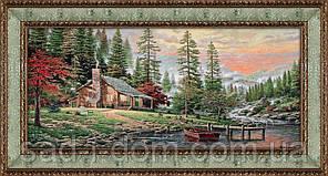 Гобеленовая картина Домик в лесу 60*120 см