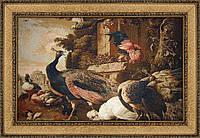 Гобеленовая картина Декор Карпаты  Павлины 80*120 см