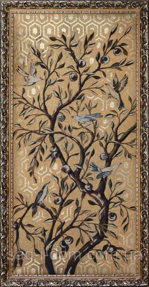 Гобеленовая картина Декор Карпаты с золотом 50*100 см