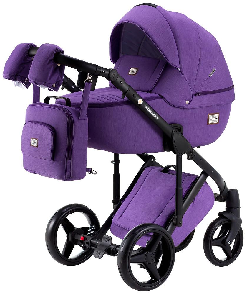 Коляска Adamex Luciano Q12 фиолетовый