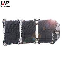 Ультратонкое зарядное устройство на солнечных панелях AllpowersAP- ES-004-CAM (Камуфляж) 21W технология ETFE, фото 1