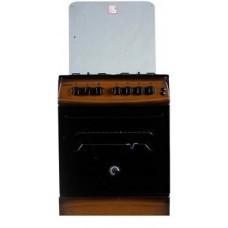 Плита комбинированная MILANO F55 K31E/01 коричневая(крышка стекло,подсвет,поджиг,вертел,КОНВЕКЦ)