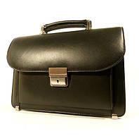 Борсетка кожаная мужская Canpel 410  черная, сумка через плечо