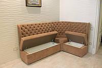 Кухонный диван с ящиками для хранения (Светло-коричневый), фото 1