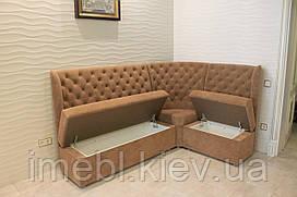 Кухонний диван з ящиками для зберігання (Світло-коричневий)