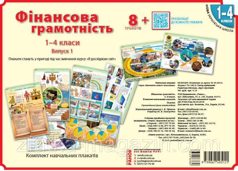 Гусельнікова І.А. НУШ Фінансова грамотність. 1-4 класи. Плакати. Наочність нового покоління