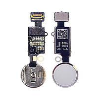 Шлейф для APPLE iPhone 7/ 7 Plus/ 8/ 8 Plus на кнопку HOME, без Bluetooth, бело-серебристая, универсальная
