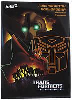 """Набор цветного неонового гофрокартона """"Transformers"""" (5листов/5цветов)"""