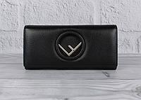 Кошелек женский кожаный Fendi 3797 черный классический, фото 1