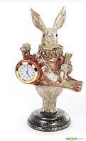 Декоративная фигура с часами Белый Кролик 21см, фото 1