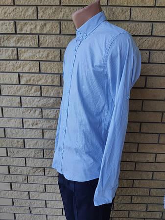 Рубашка мужская коттоновая стрейчевая брендовая высокого качества ONLINE, Турция, фото 2
