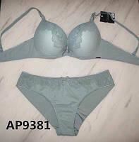 Комплект жіночої нижньої білизни з ефектом пуш ап Balalaum 9381 ментоловий., фото 1