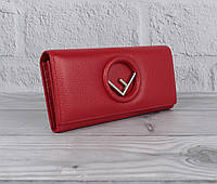 Кошелек женский кожаный Fendi 3797 красный классический, фото 1