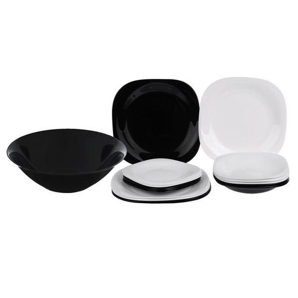 Сервіз столовий 19 пр Luminarc Carine Black and White N1491