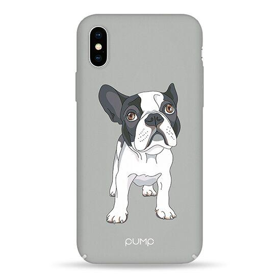 Pump Tender Touch Case чехол для iPhone X/XS Mops On Gray