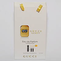 Gucci Guilty мини парфюмерия в подарочной упаковке 3х15ml DIZ