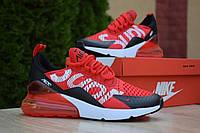 Кроссовки мужские Nike Air Max 270.Стильные мужские кроссовки красного цвета.ТОП КАЧЕСТВО!!! Реплика, фото 1