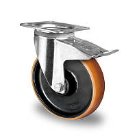 Поворотное колесо с тормозом диаметр 125 мм полиамид/полиуретан шариковый подшипник нагрузка 300 кг
