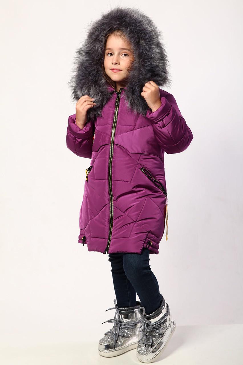 Детская куртка для девочки зимняя р.110-134 опт