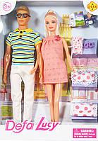 Сім'я лялька Defa (вагітна) і чоловік з аксесуарами (8349)